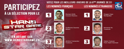 HAND STAR GAME - VOTEZ ROMAIN BRIFFE