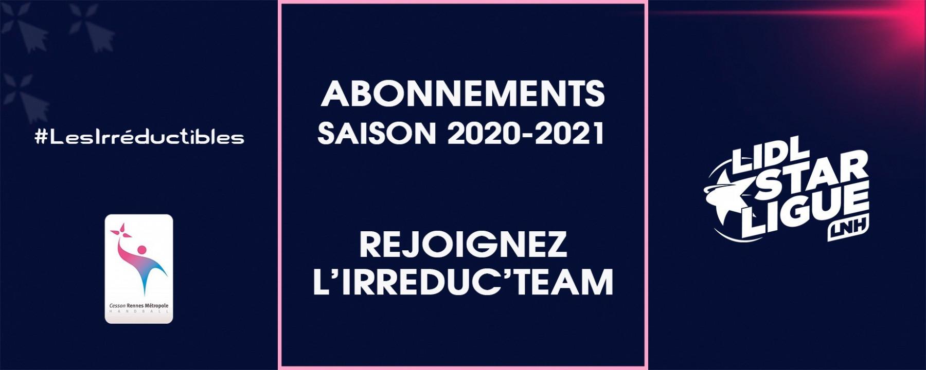 Rejoignez l'Irréduc'team : abonnements 2020-2021
