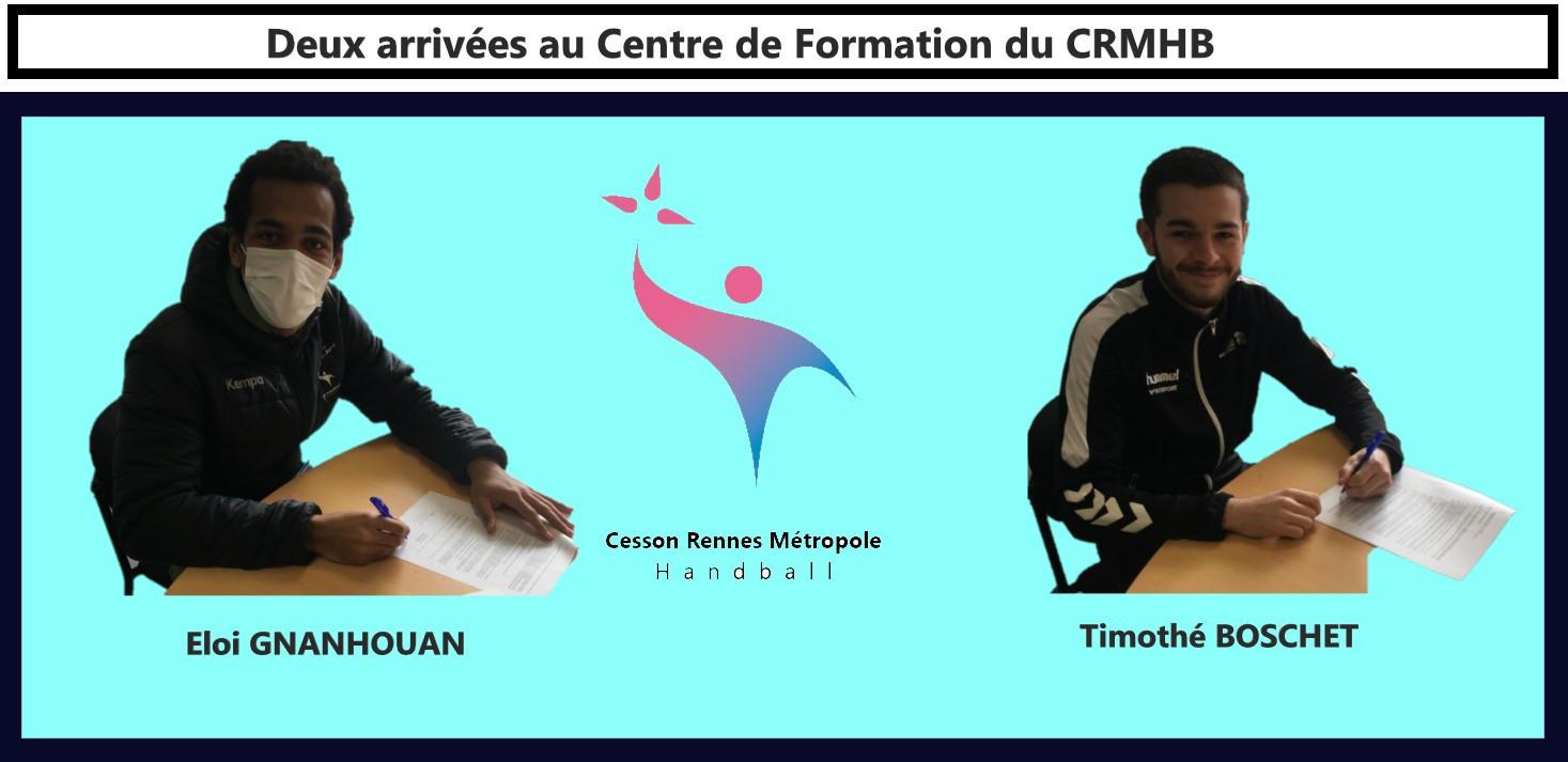 Centre de Formation :  2 signatures.