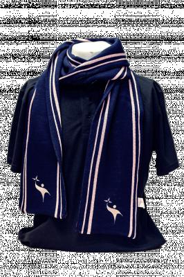 Echarpe Jacquard Bleue